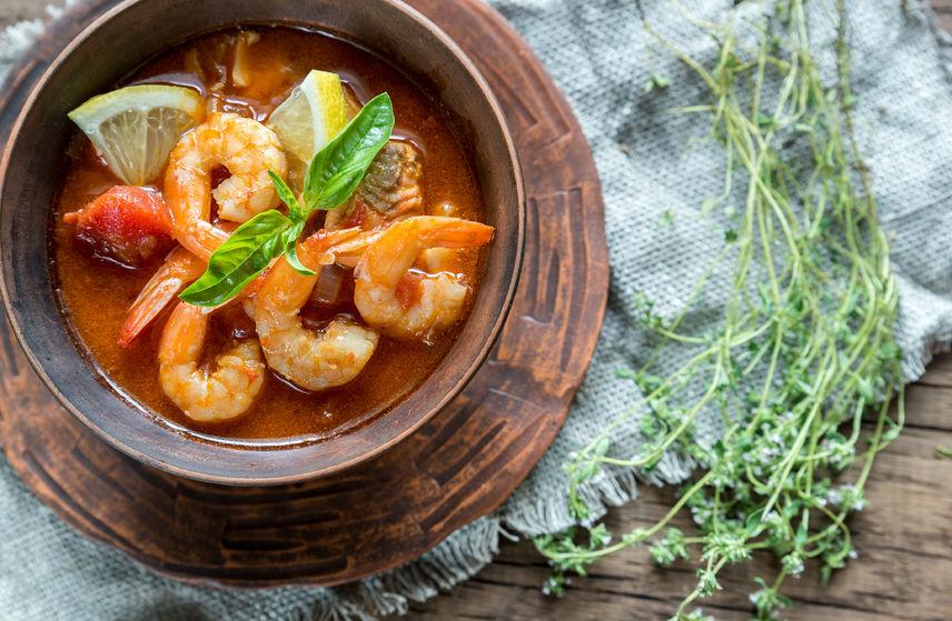 41713917 - bouillabaisse seafood soup