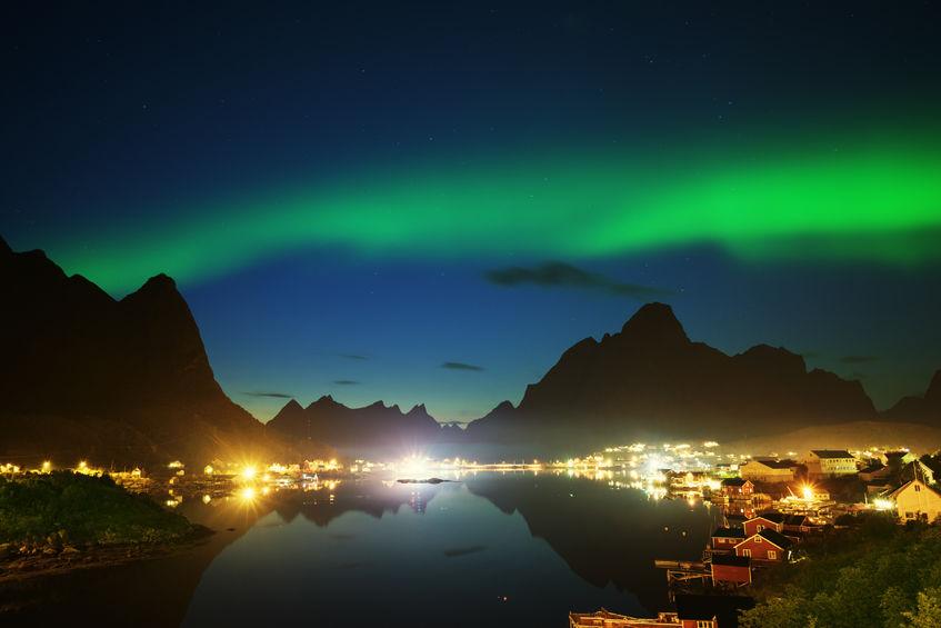 nothern lights, lofoten islands, norway