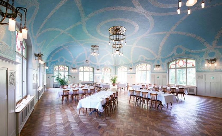 Kurhaus Bergün, ballroom, Switzerland