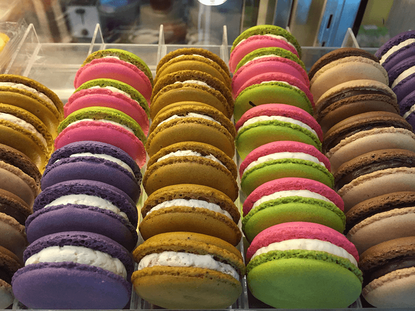 Colourful macarons, France