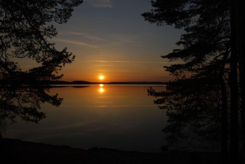 Midnight sun in Sweden