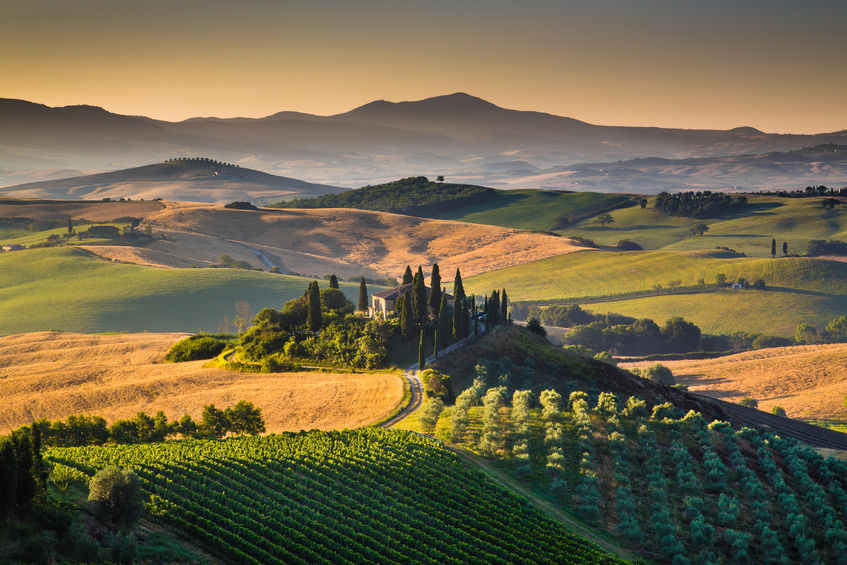 val d orcia, italy