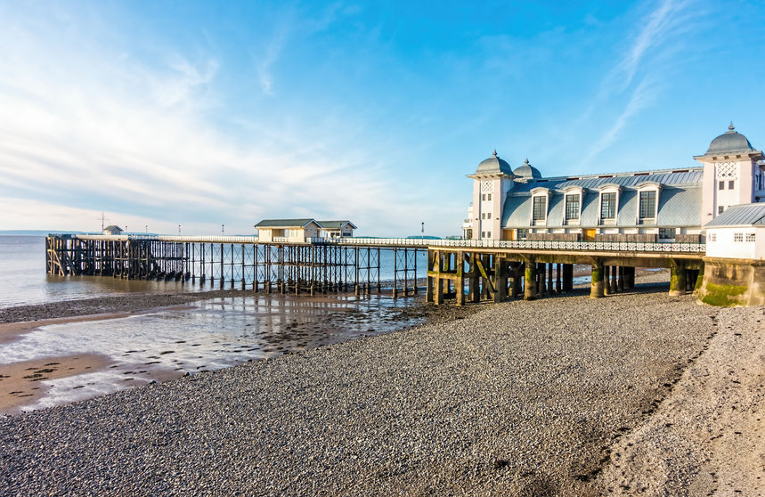 Penarth beach, Wales