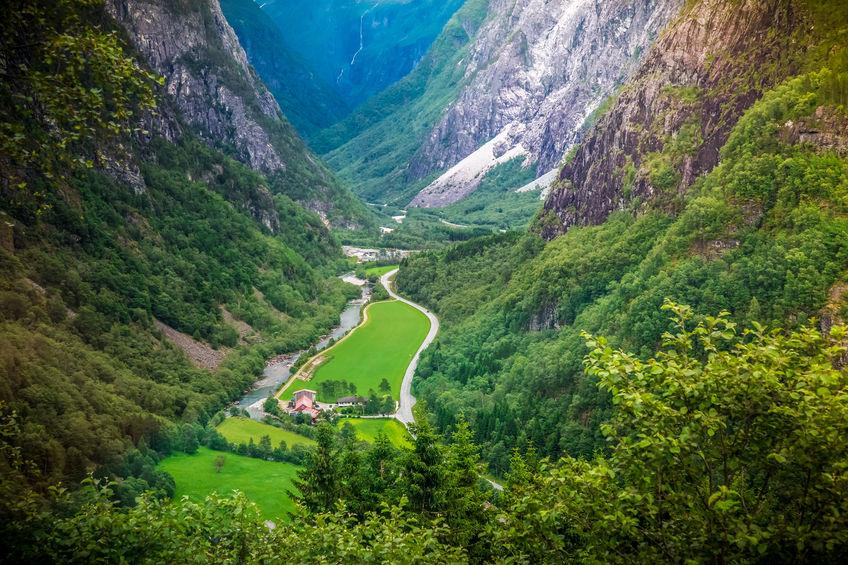 Naeroydalen valley, Norway