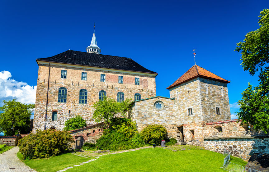 akershus fortress, a medieval castle in oslo, norway