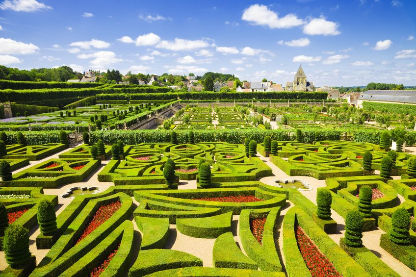 Villandry chateau garden, France