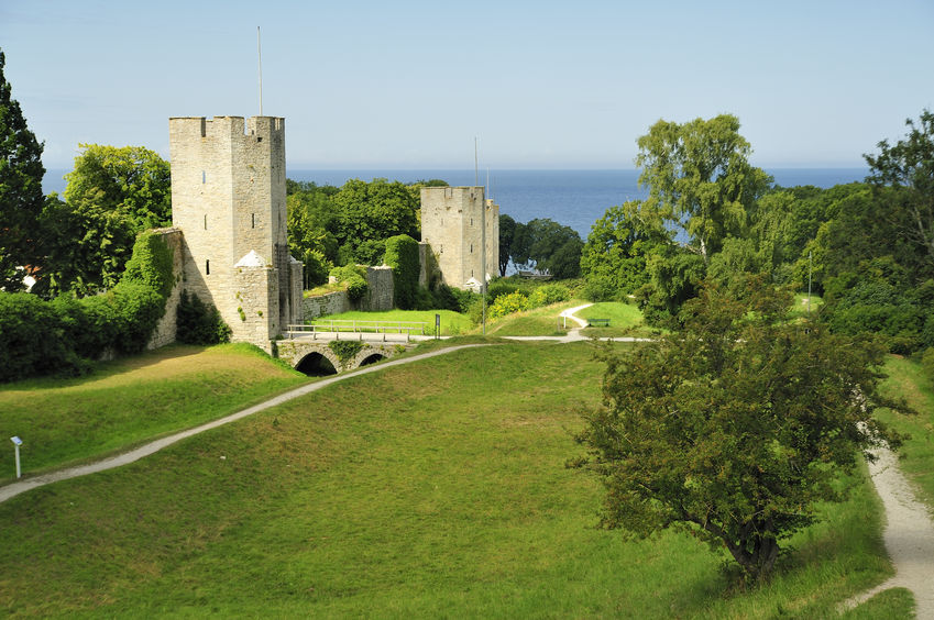 medieval town-wall of visby