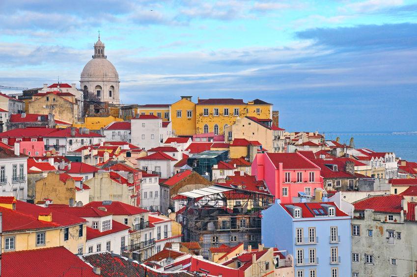 27331925 - colorful houses of alfama district, lisbon, portugal