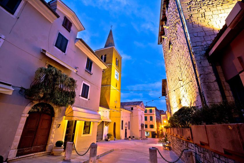 town of lovran square, croatia