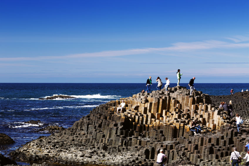 The famous giants causeway of northern ireland