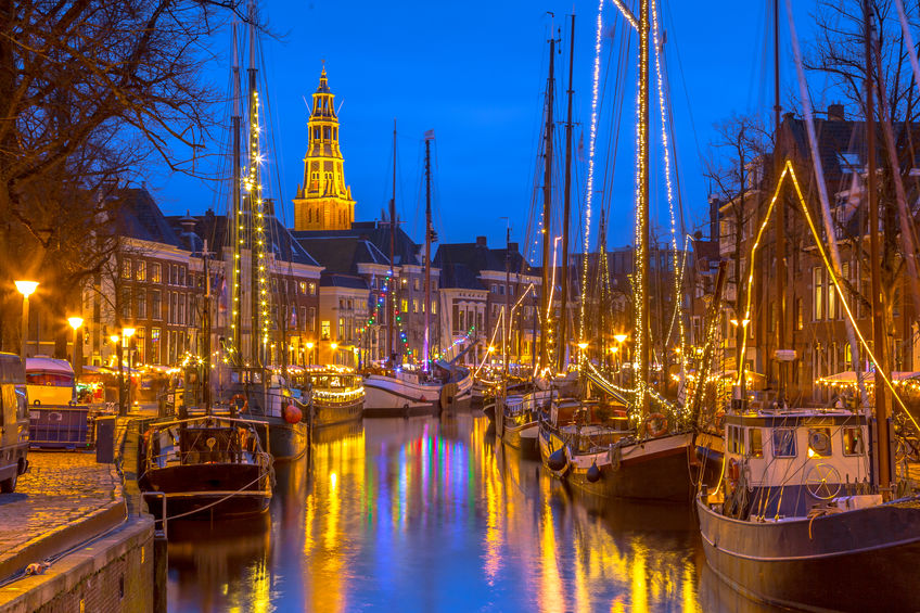 Christmas time in Groningen, Netherlands