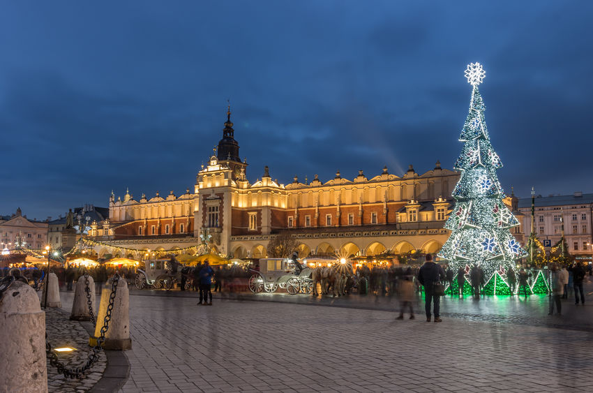 Christmas time in Krakow, Poland