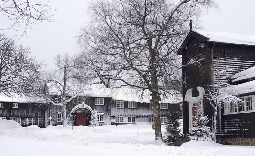 Lysebu in winter, Oslo, Norway