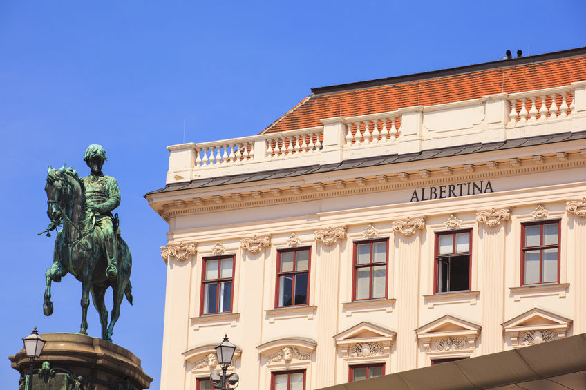 View of the Albertina museum in Vienna, Austria