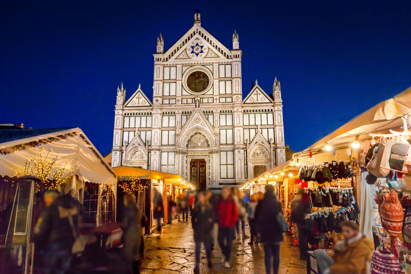 Christmas market in Florence, Italy
