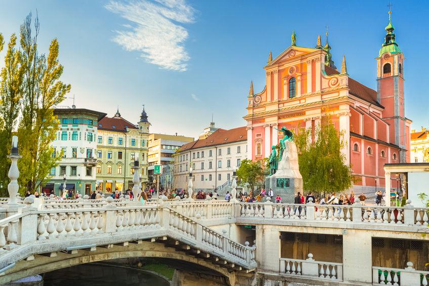 Romantic Ljubljana's city center