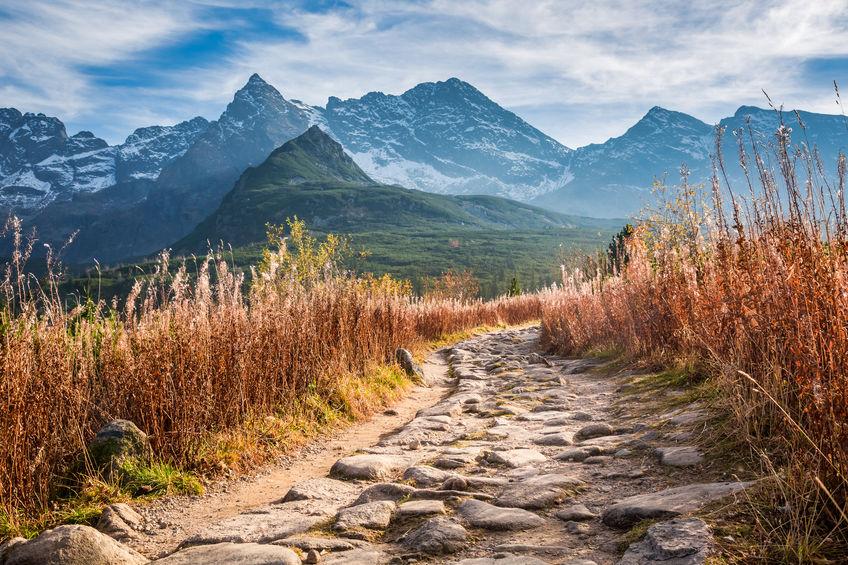 mountain valley in Tatras in Poland