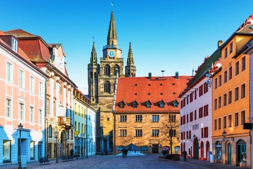 Ansbach historical center, Germany
