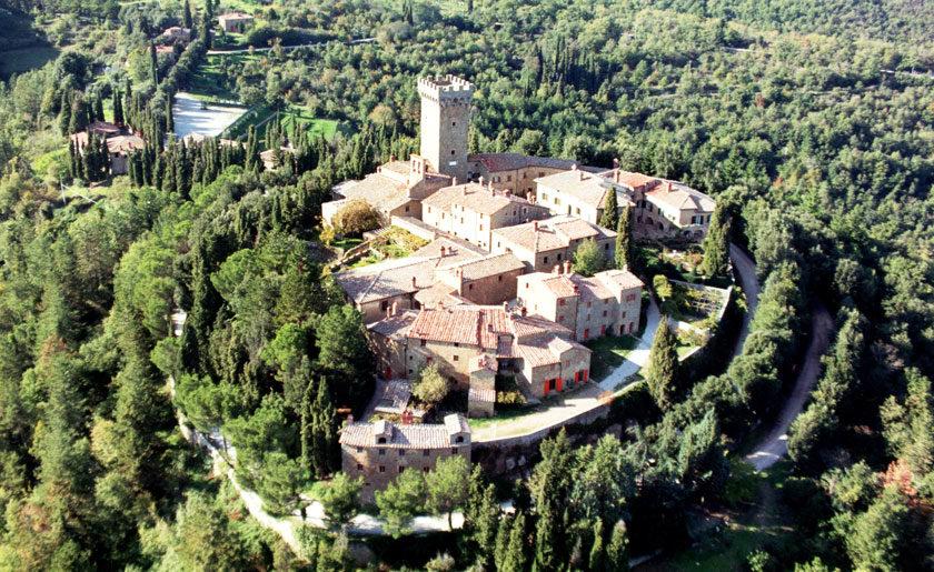 Gargonza Castle in Tuscany, Italy